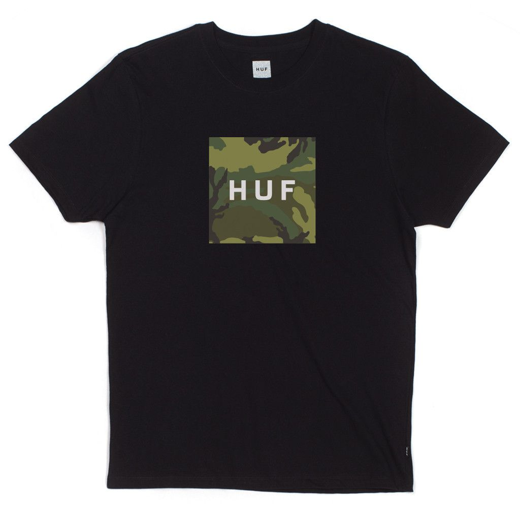 HUF Box Logo Fill T-shirt Zwart