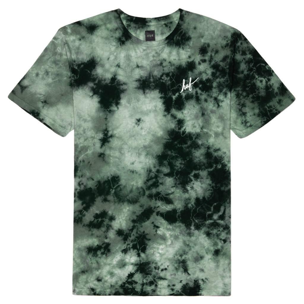 HUF Crystal Wash Script T-Shirt groen