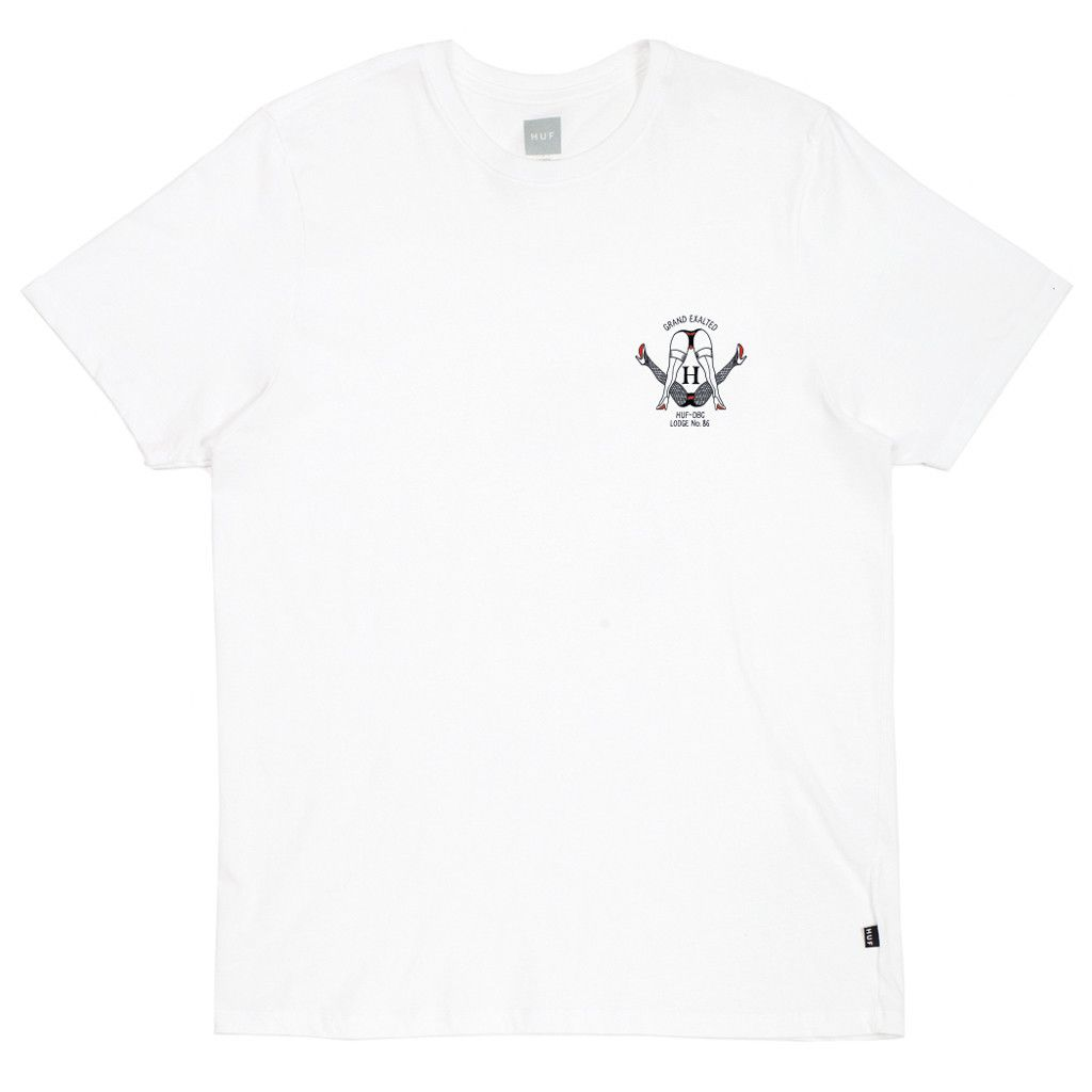 HUF Lodge 86 T-shirt zwart