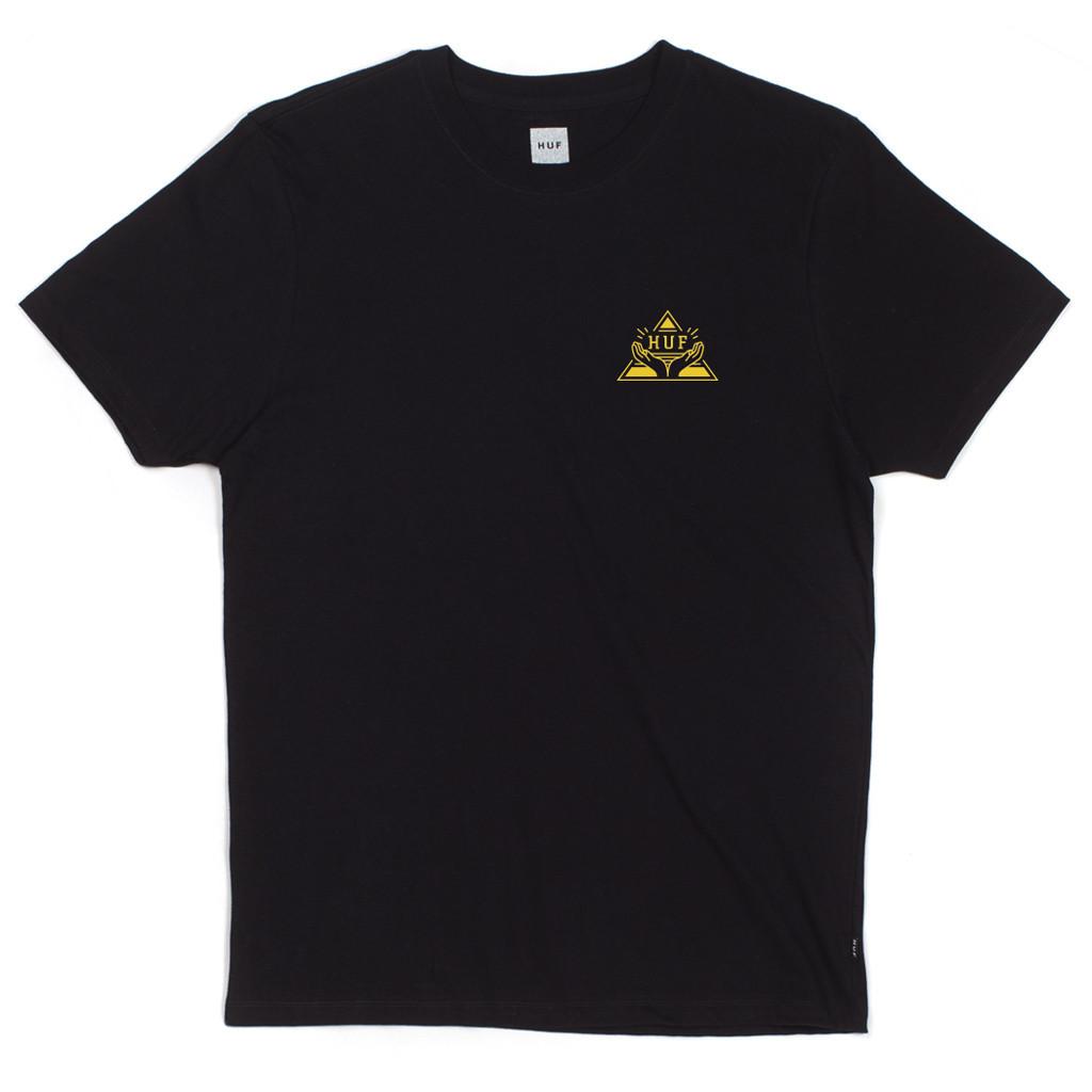 HUF Piramide T-shirt zwart