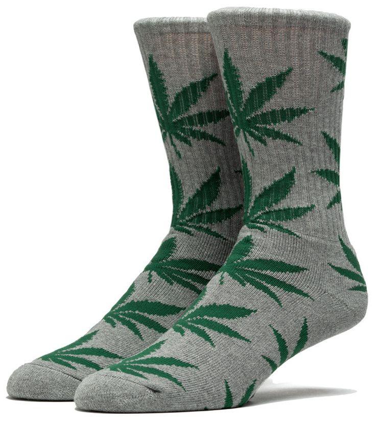 HUF Plantlife Crew Sock Grijs / Gespikkeld