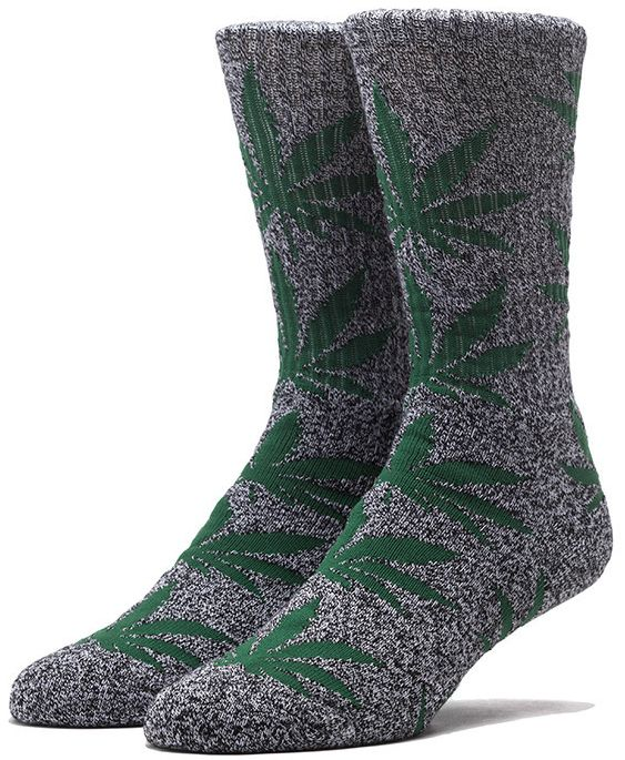 HUF Tie Dye Plantlife crew sokken Black Heather Green