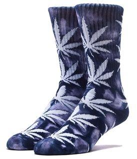 HUF Tie Dye Plantlife crew sokken navy