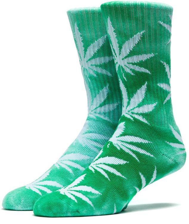 HUF Tie Dyed Plantlife crew sokken Groen