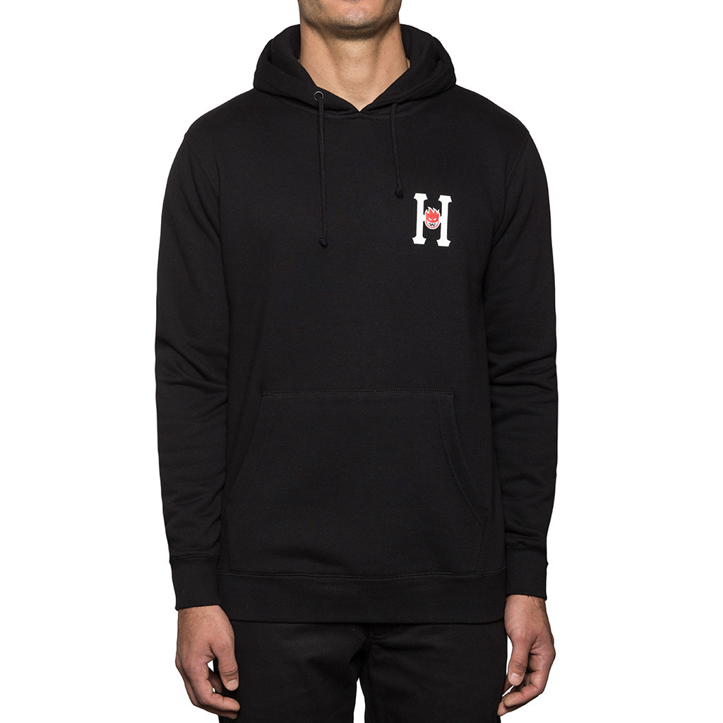 HUF X Spitfire Classic H Pullover Fleece Black
