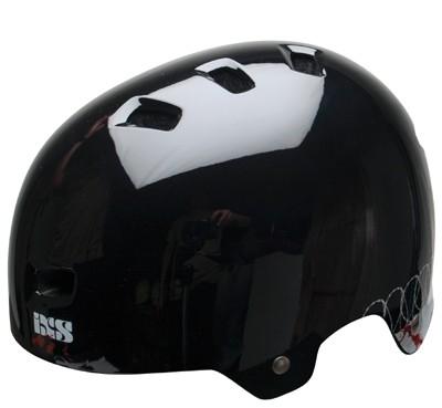 iXS Hammer helm hoogglans Zwart