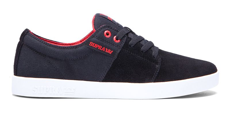 Supra Stacks II Black/Red White