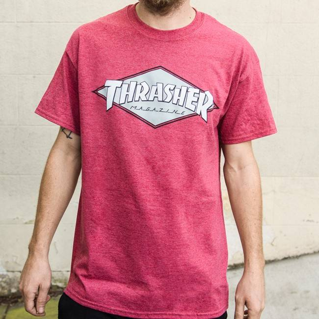 Thrasher OG Diamond T-shirt Cardinal Heather