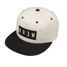 KR3W Flat Locker Snapback wit