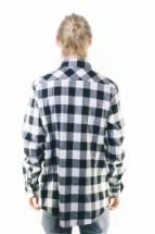 Urban Classics Checked Flanell Shirt Black White