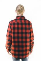 Urban Classics Padded Checked Flanell Light Jacket Black Red